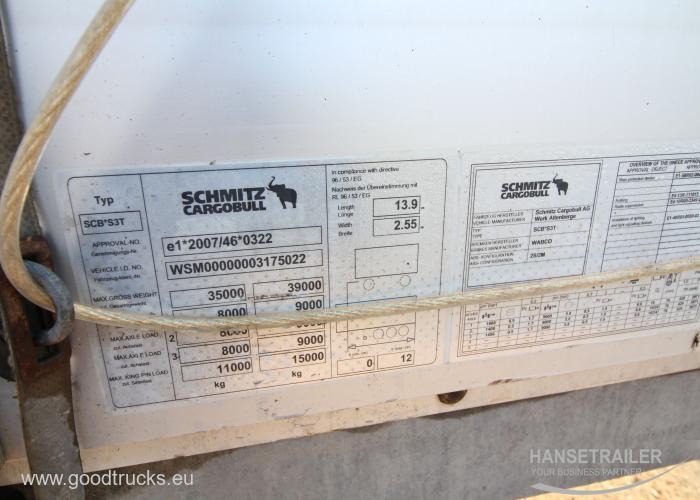 2013 Puspriekabė Užuolaidinė Schmitz SCS 24 TIR