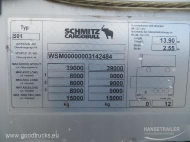 2011 Puspriekabė Užuolaidinė Schmitz SCS 24/L MULTILOCK + XL+  KONIKI