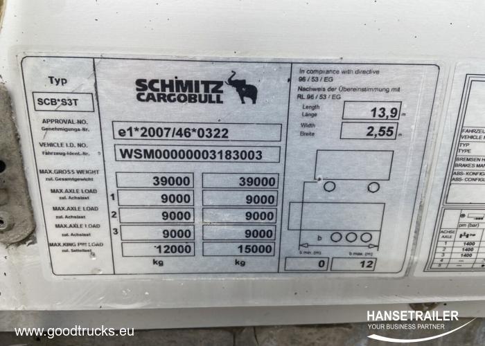 2013 Полуприцеп Тентованные Schmitz SCS 24 TIR