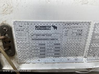 2013 Puspriekabė Užuolaidinė su bortais Schmitz SCS BS