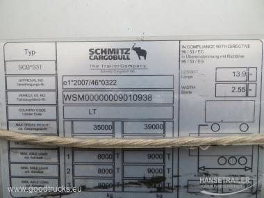 2017 напівпричеп Тентовані Schmitz SCS 24/L