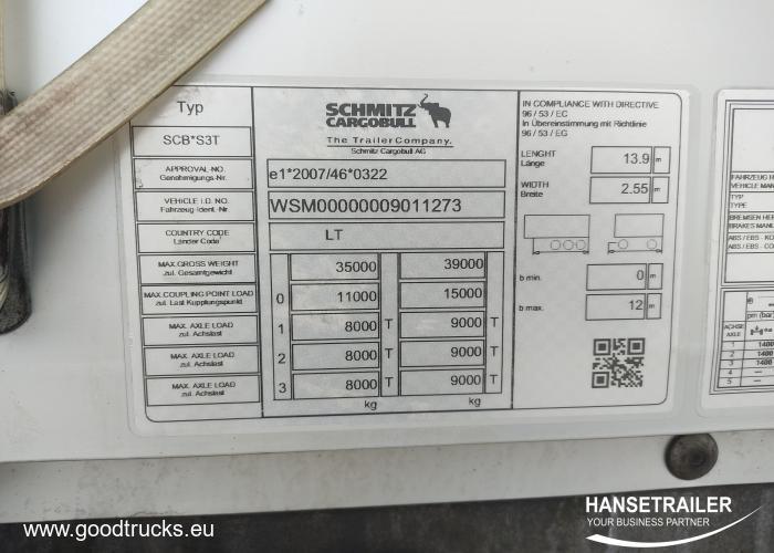 2018 Полуприцеп Тентованные Schmitz SCS 24/L