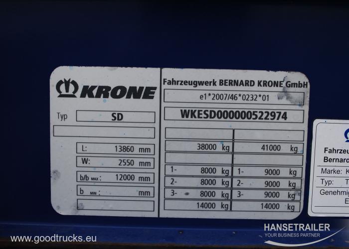 2012 напівпричеп Тентовані Krone SDP 27 Koniki
