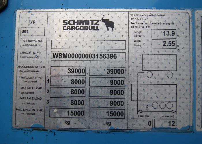 2012 Puspriekabė Užuolaidinė Schmitz SCS 24/L