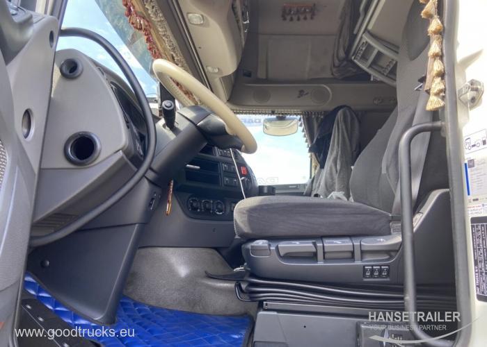 2017 Autotraukiniai Užuolaidinė DAF XF 460 FAR Wielton 18+20 Pallets KomplettZug Tandem