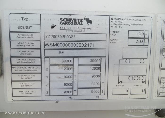 2015 Puoliperävaunu Pressukapelli Schmitz SCS 24 Mega Mega