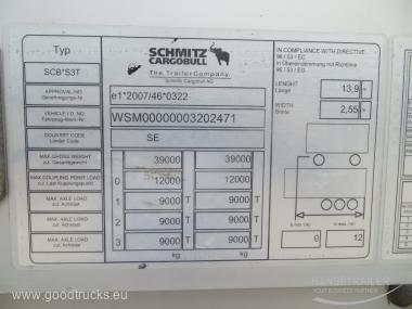 2015 Puspriekabė Užuolaidinė Schmitz SCS 24 Mega Mega
