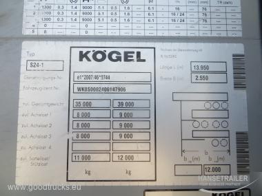 2012 Puspriekabė Užuolaidinė Koegel SN 24
