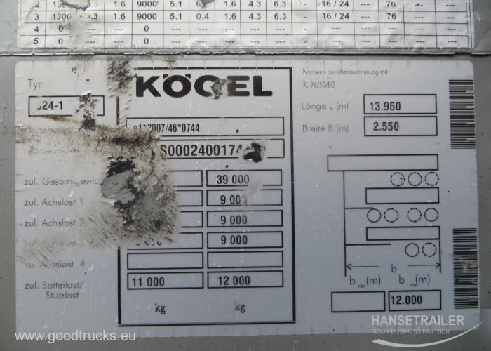 2014 Puspriekabė Užuolaidinė Koegel SN 24 Multilock XL