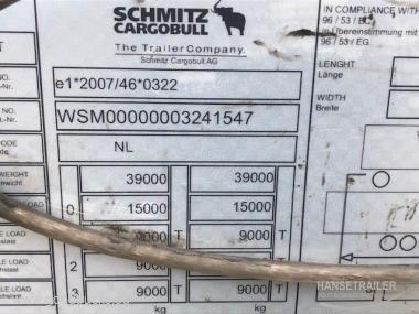 2016 Puspriekabė Užuolaidinė su bortais Schmitz SCS BS Lifting Axle