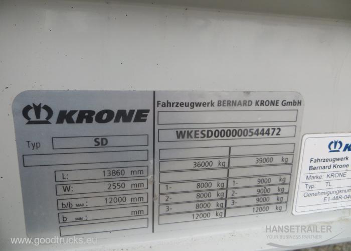 2012 Puoliperävaunu Sideboards Krone SDP 27
