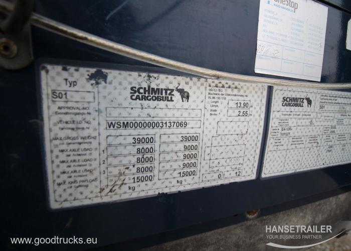2011 Puspriekabė Užuolaidinė Schmitz SCS 24/L Multilock XL