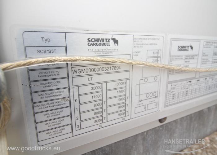 2015 Puspriekabė Užuolaidinė Schmitz SCS 24/L