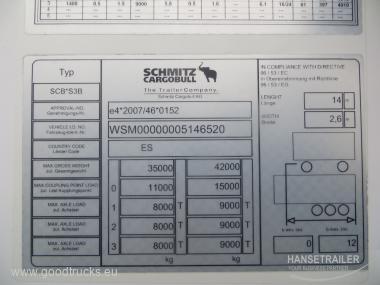 Schmitz SKO 24 FP60 Стена 7cm