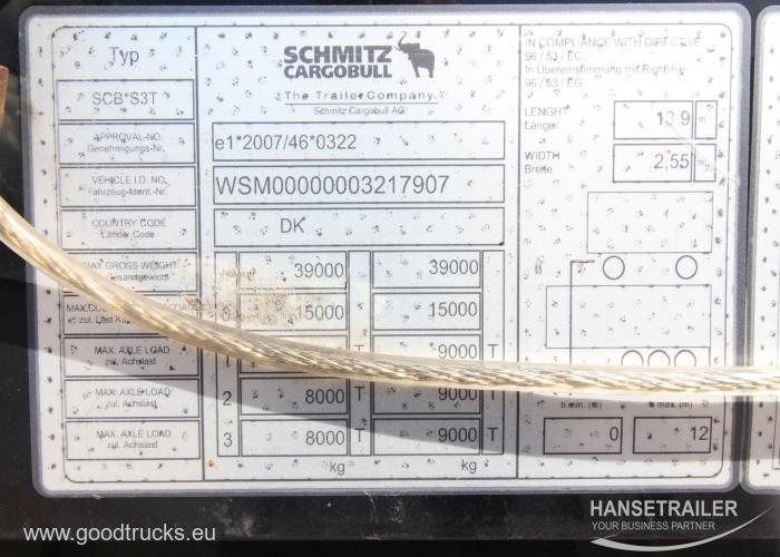 2015 Puspriekabė Užuolaidinė Schmitz SCS 24/L Multilock XL