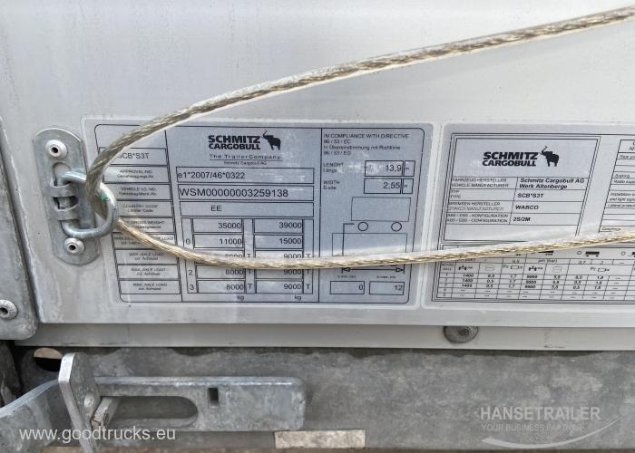 2016 Puspriekabė Užuolaidinė Schmitz SCS 24/L Multilock XL