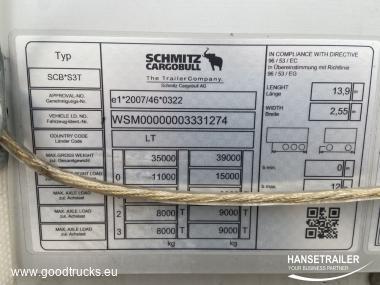 Schmitz SCS 24/L 2x Lift Axle   anti-theft protection