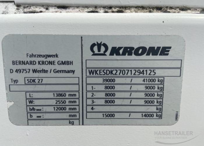 2006 Puspriekabė Izotermas Krone SDR27