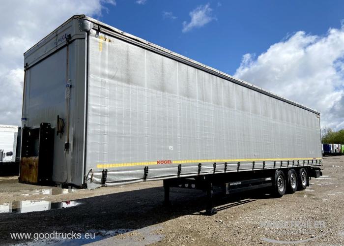 2014 Puspriekabė Užuolaidinė Koegel SN 24 Lift Axle Multilock XL