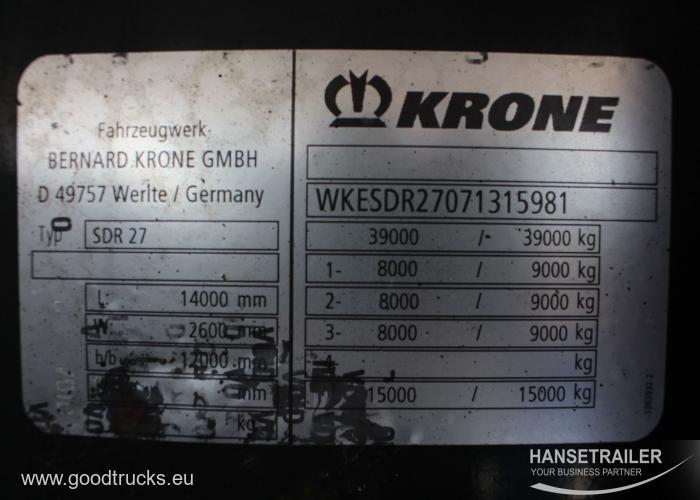 2007 напівпричеп Рефрижераторы Krone SD2