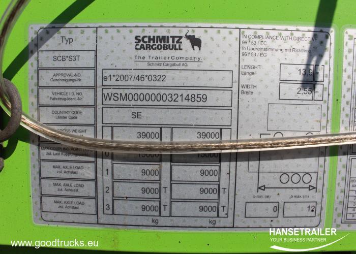 2015 Полуприцеп Тентованные Schmitz SCS 24 Multilock XL