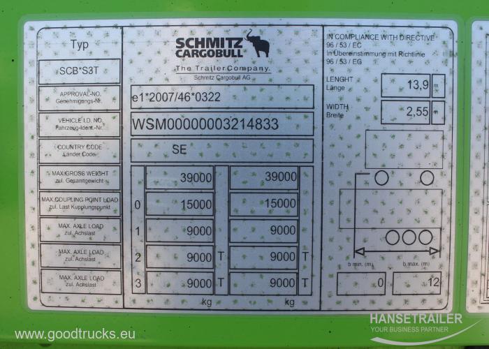 2015 Puspriekabė Užuolaidinė Schmitz SCS 24 40UNITS  Multilock XL