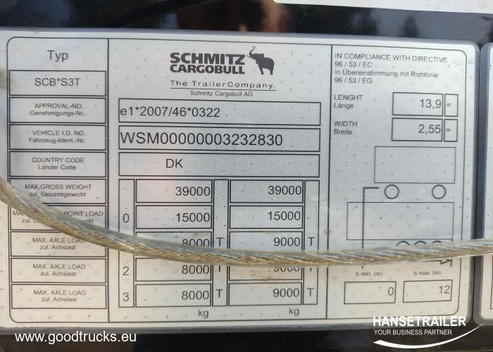 2016 Puoliperävaunu Pressukapelli Schmitz SCS 24/L