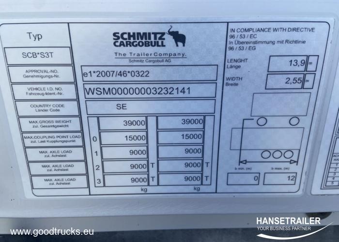 2015 Полуприцеп Бортовой Schmitz SCS BS Hydraulic roof COIL