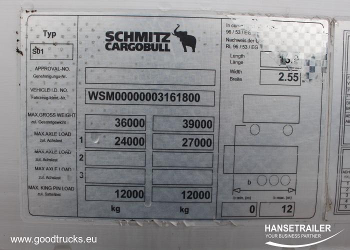2012 Puspriekabė Užuolaidinė Schmitz SCS 24/L Mega  Varios