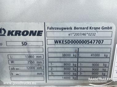 2012 Puoliperävaunu Pressukapelli sivulaidoilla Krone SDP 27