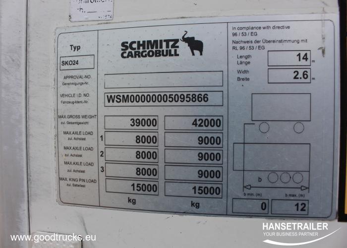 2012 Puspriekabė Šaldytuvas Schmitz SKO 24