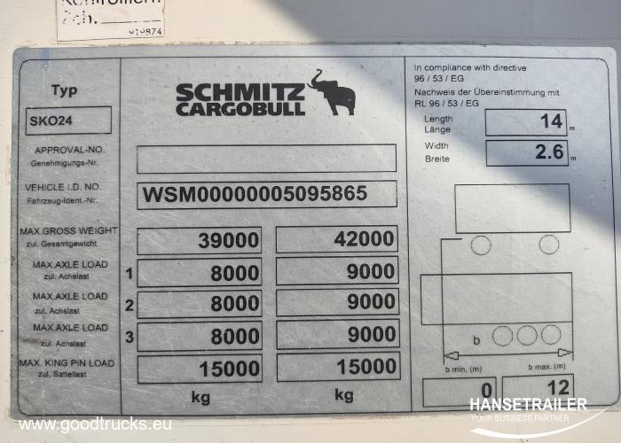 2012 Puspriekabė Šaldytuvas Schmitz SKO 24 Doppelstock Double Deck