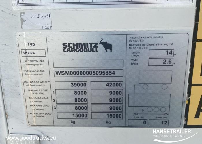 2012 Puoliperävaunu Kylmäkone Schmitz SKO 24 Doppelstock Double Deck