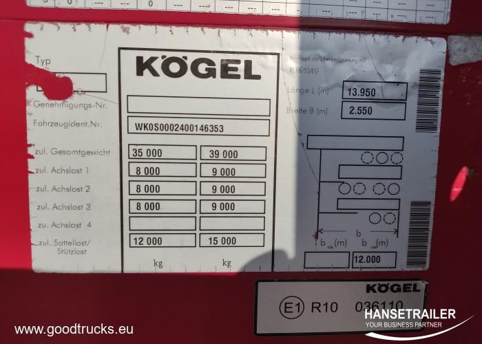 2011 Puspriekabė Bortinė Koegel SN 24