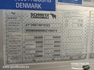 2014 Puspriekabė Užuolaidinė Schmitz SCS 24/L