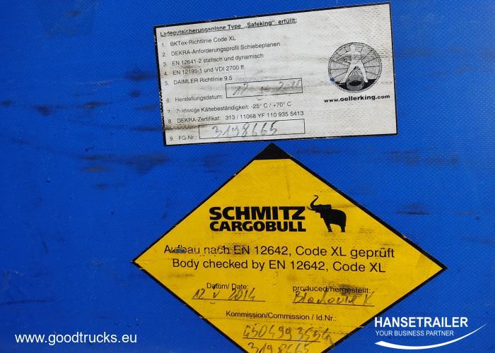 2014 напівпричеп Тентовані Schmitz SCS 24/L