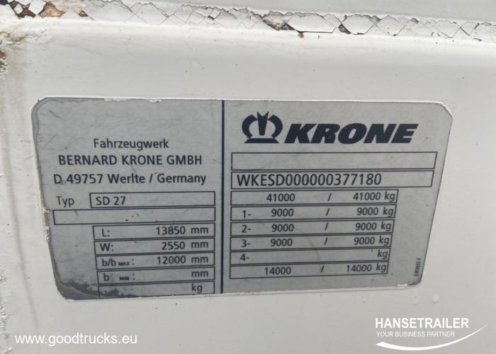 2007 Semitrailer isotherme Krone SDP