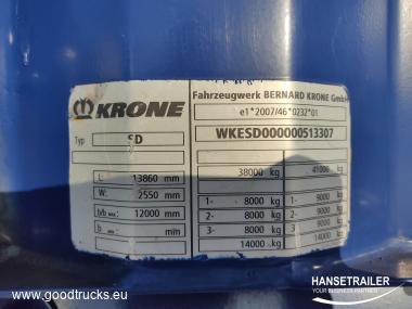 2011 Puspriekabė Užuolaidinė Krone SDR27 MEGA DAMAGED