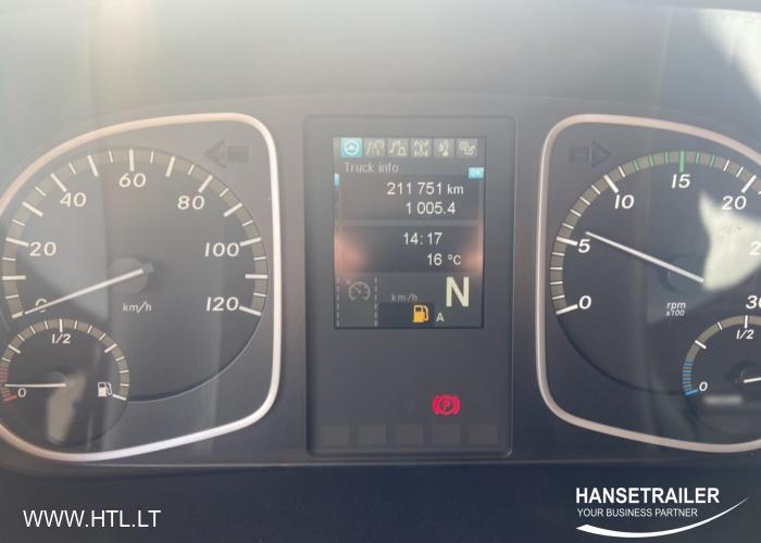 2017 Sunkvežimis Užuolaidinė Mercedes-Benz Atego 824 L