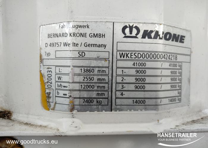 2009 Полуприцеп Тентованные Krone SDP Mega
