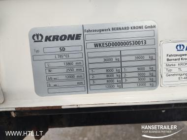 2012 Puspriekabė Užuolaidinė Krone SDP Lifting Axle